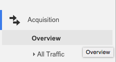 Acquisition Overview in Google Analytics