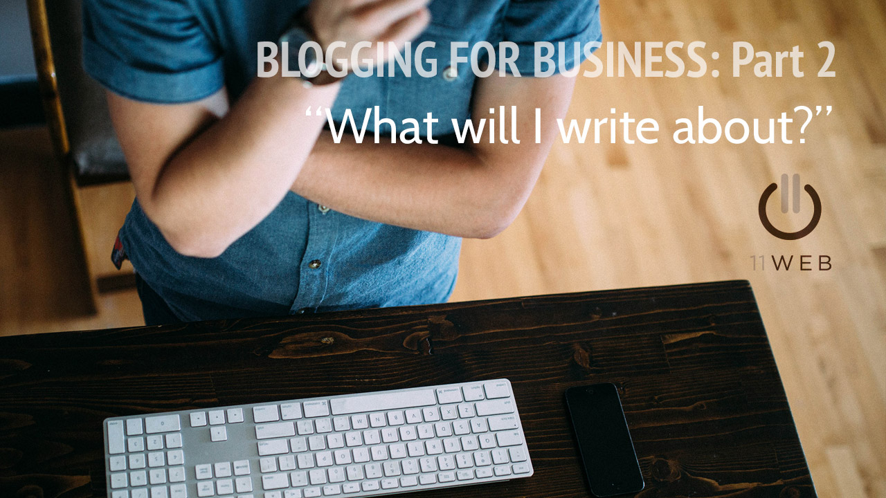 Blogging for business topics