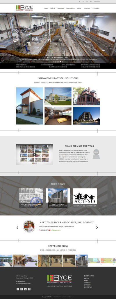 Architecture Engineering Firm Website