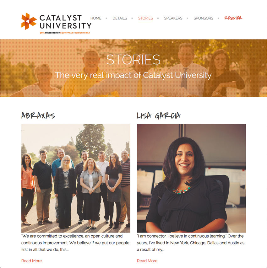 Catalyst University stories page