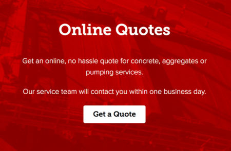 Concrete company website quote form