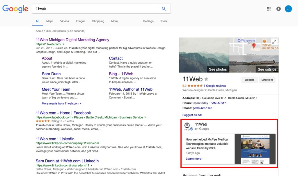 google-posts-in-search-updated