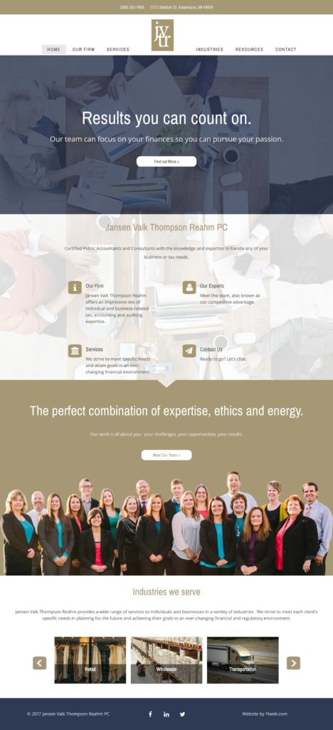 JVTR Accounting Website Design