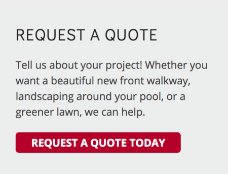 Call to Action example: Request a Landscape Quote