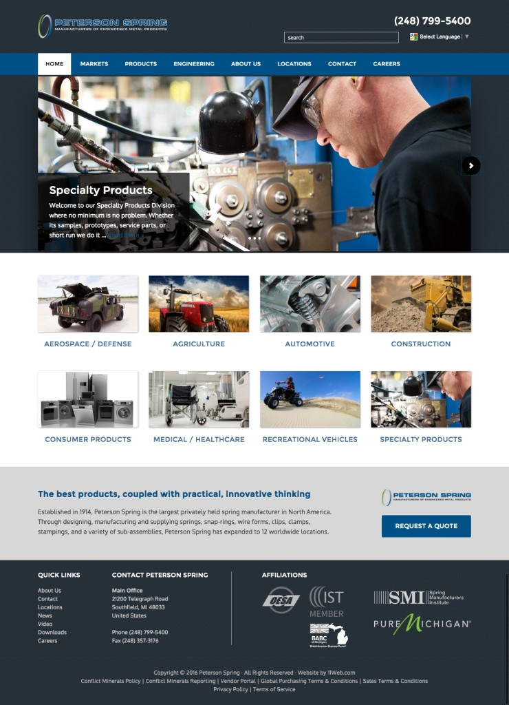 Manufacturer-website-design-example
