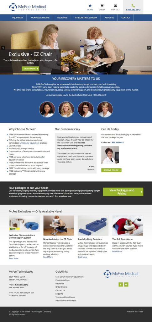 mcfee-technologies-medical-equipment-website