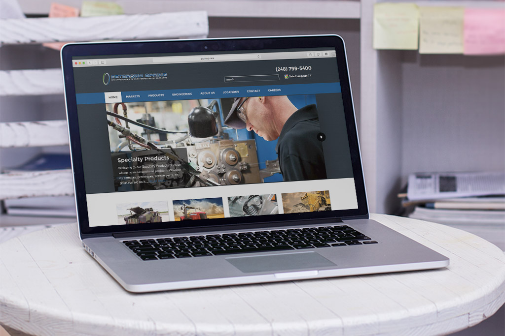 Peterson Spring manufacturer web design