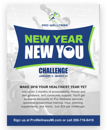 Pro Wellness New Year New You branding and advertising