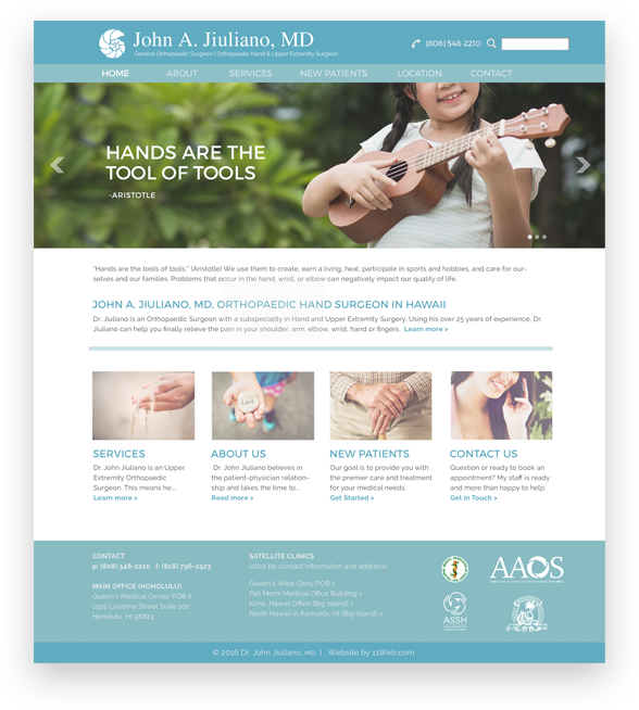 Surgeon website design