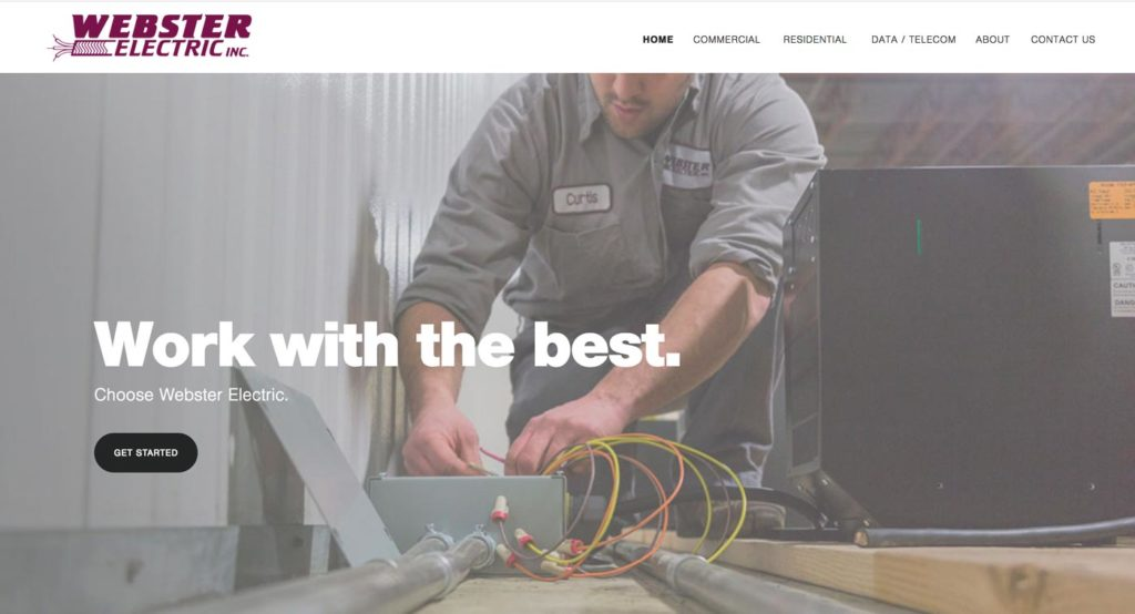 New Webster Electric home page