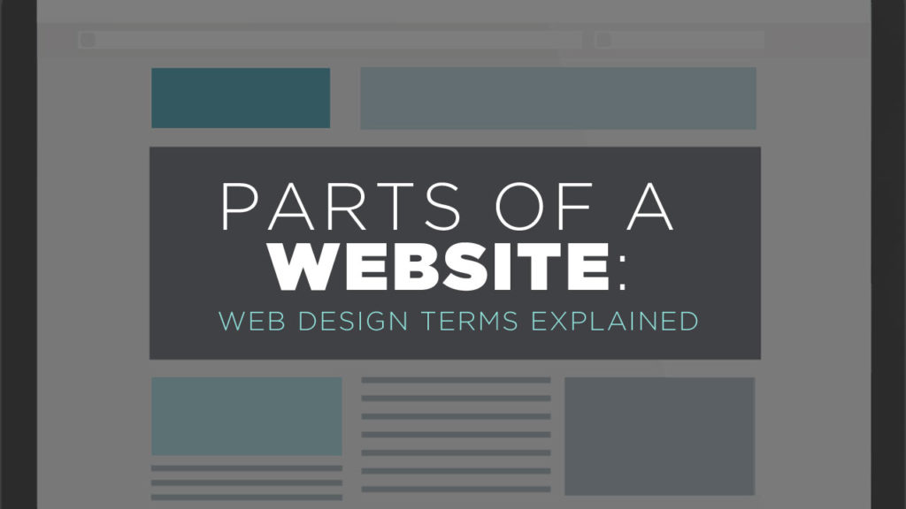 Parts of a website featured image
