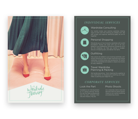 Wardrobe Therapy Brochure Design
